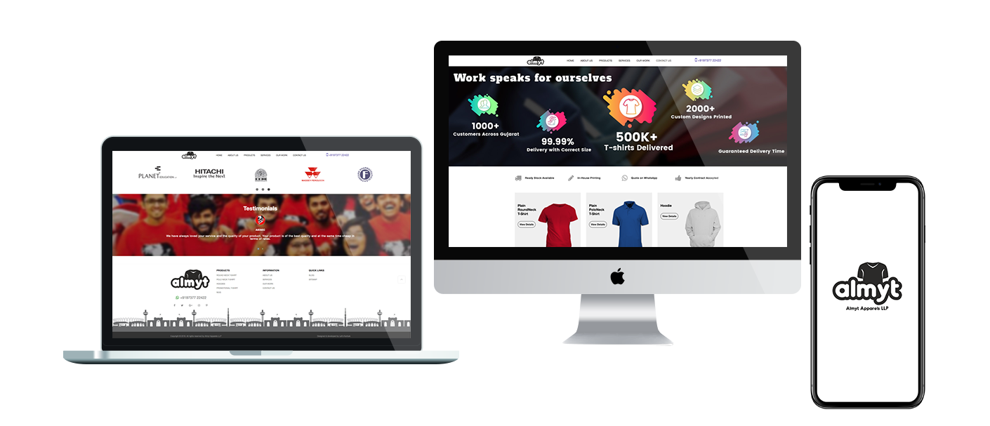 CMS Website development for Apparels Manufacturers